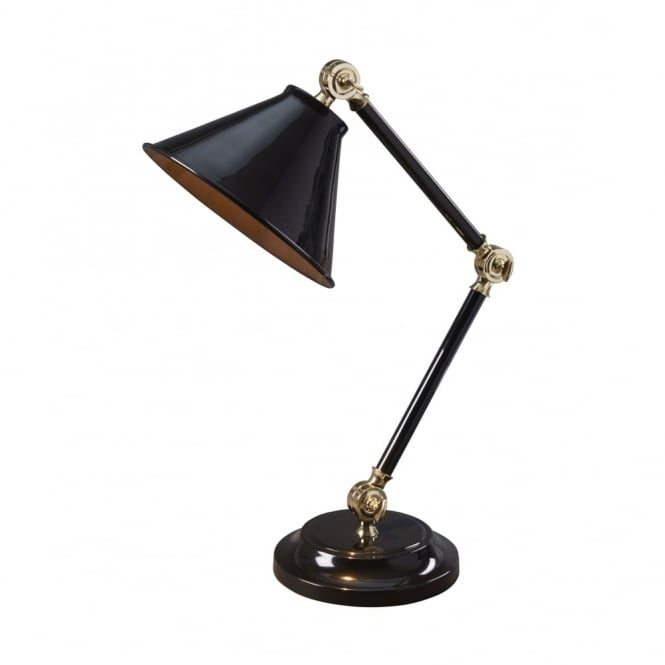 Chester Collection PROVENCE - Element Black/Polished Brass Table Lamp