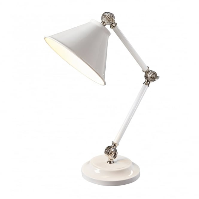 Chester Collection PROVENCE - Element White/Polished Nickel Table Lamp
