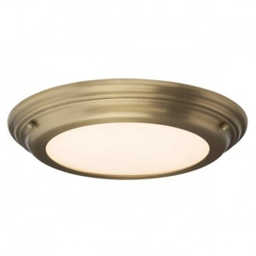 WELLAND LED Medium Bath Antique Flush Brass