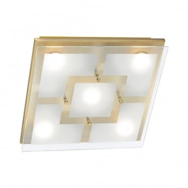 CHIRON - LED Ceiling Light Old Brass in Antique Brass