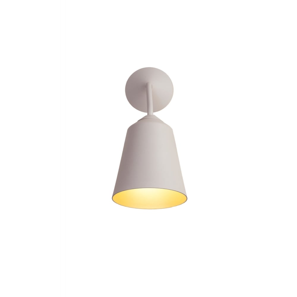 newest acfc6 c1055 CIRCUS - Dimmable LED Wall Light in Textured Matte White Finish with Gold  Inner , Switched