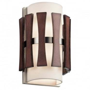 CIRUS Mid-Century Wall Light Auburn Stained Wood