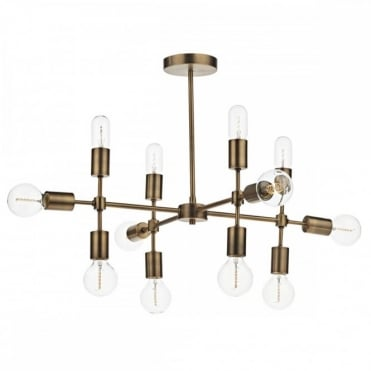 CODE - 12 Light Ceiling Pendant Old Gold
