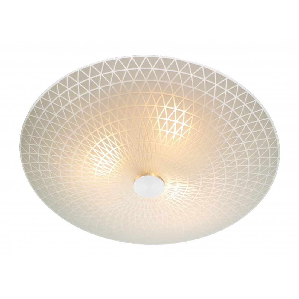 Colby circular flush ceiling ceiling light for low ceilings