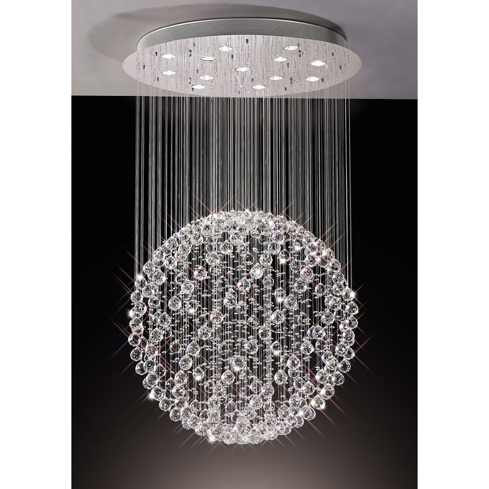 sphere globe crystals decor for shopping parts with crystal chandelier