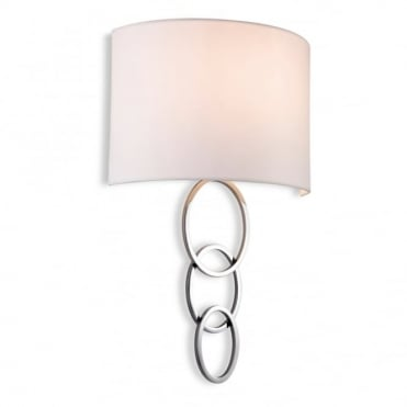 CONRAD - Wall Light Chrome With Cream Shade in Polished Chrome