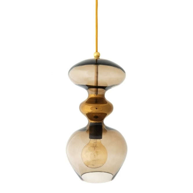 Copenhagen Glass Collection FUTURA - Chestnut Brown Glass Ceiling Pendant (Large)