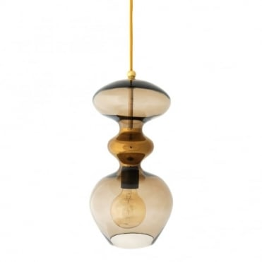 FUTURA - Chestnut Brown Glass Ceiling Pendant (Large)