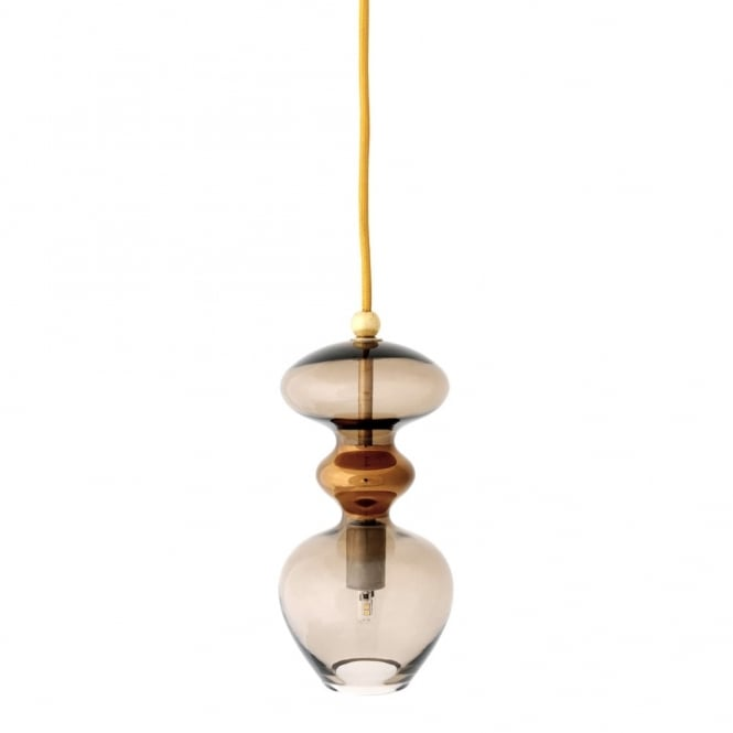Copenhagen Glass Collection FUTURA - Chestnut Brown Glass Ceiling Pendant (Small)