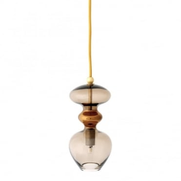 FUTURA - Chestnut Brown Glass Ceiling Pendant (Small)