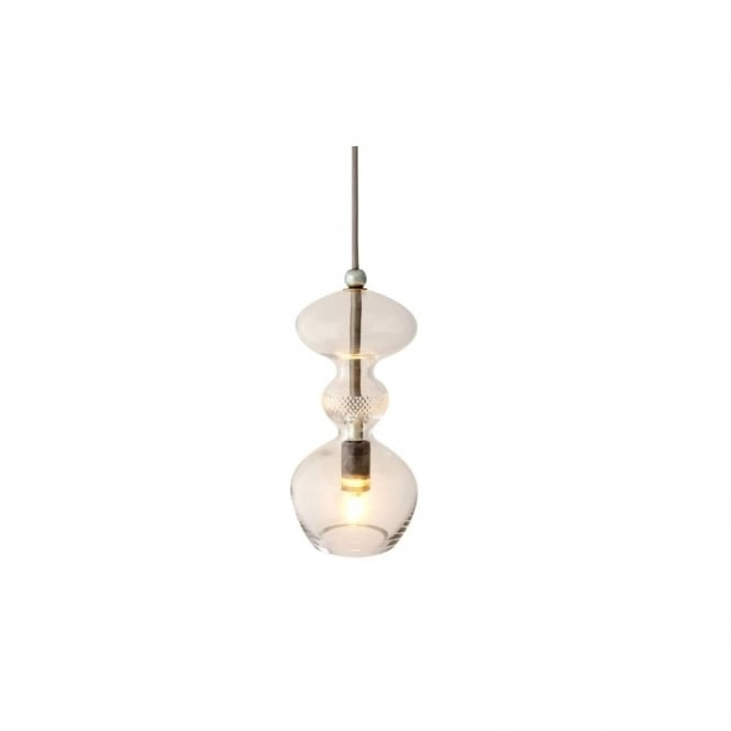Copenhagen Glass Collection FUTURA - Crystal And Silver Glass Ceiling Pendant (Small)