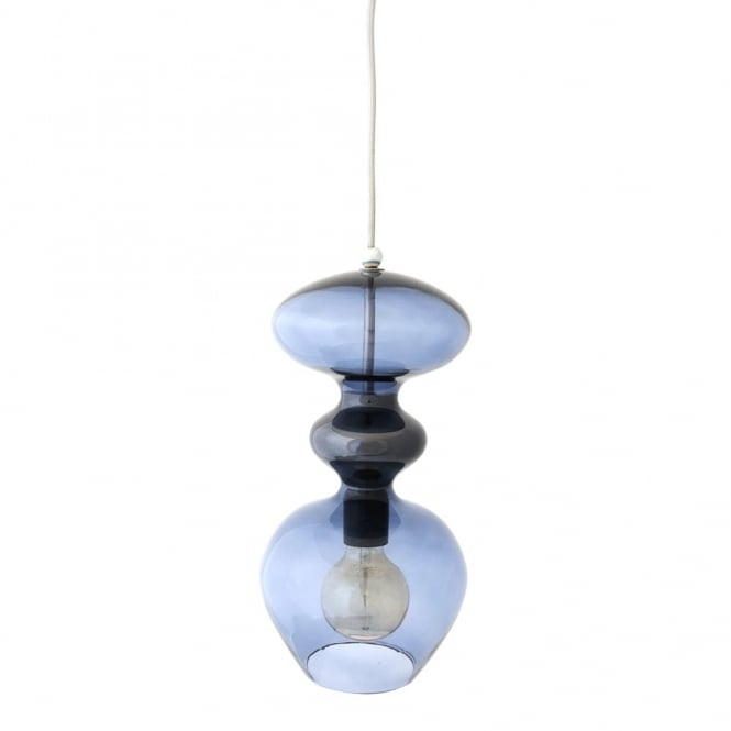 FUTURA - Deep Blue Glass Ceiling Pendant (Large)