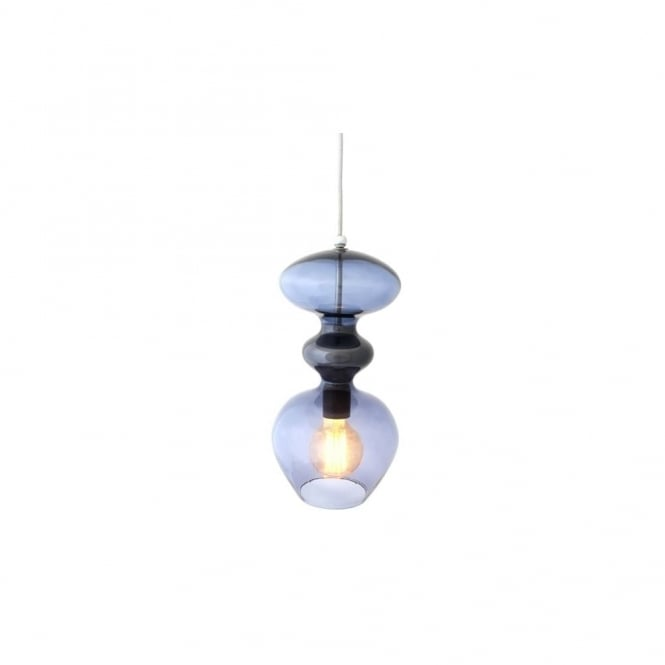 Copenhagen Glass Collection FUTURA - Deep Blue Glass Ceiling Pendant (Small)