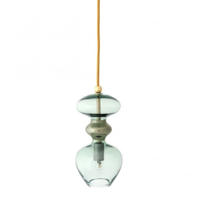 Copenhagen Glass Collection FUTURA - Forest Green Glass Ceiling Pendant (Small)