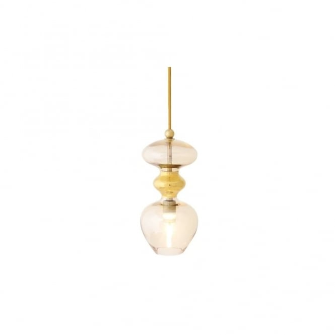 Copenhagen Glass Collection FUTURA - Golden Smoke Glass Ceiling Pendant (Large)