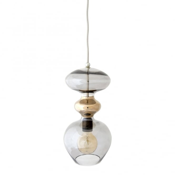 Copenhagen Glass Collection FUTURA - Smokey Grey Glass Ceiling Pendant (Large)