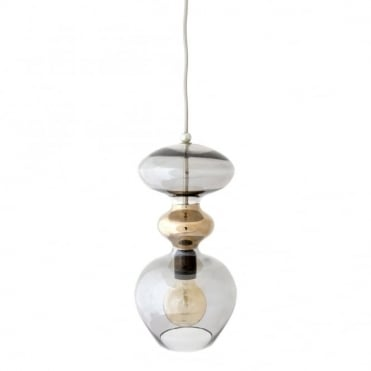 FUTURA - Smokey Grey Glass Ceiling Pendant (Large)