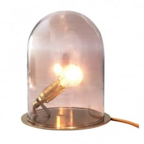 GLOW - In A Dome Transparent Obsidian Glass Table Lamp (Small)