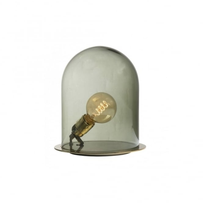 Copenhagen Glass Collection GLOW - In A Dome Transparent Olive Glass Table Lamp (Medium)