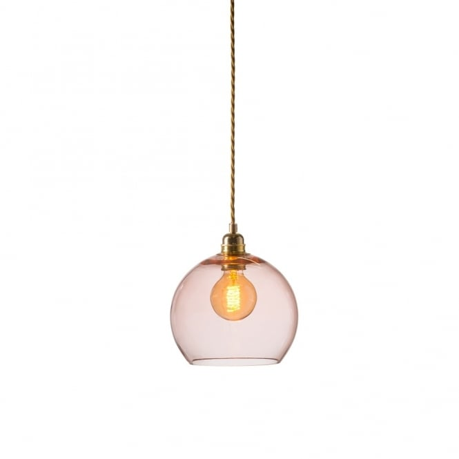 ROWAN - Small Transparent Coral Glass Ceiling Pendant Light