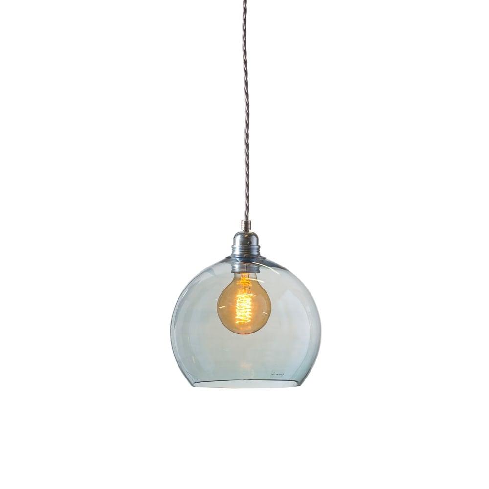 Glass Globe Topaz Blue Glass Pendant Lighting And Lights Uk