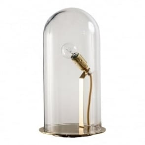SPEAK - Up! Glow In A Dome Clear Glass Table Lamp (Large)