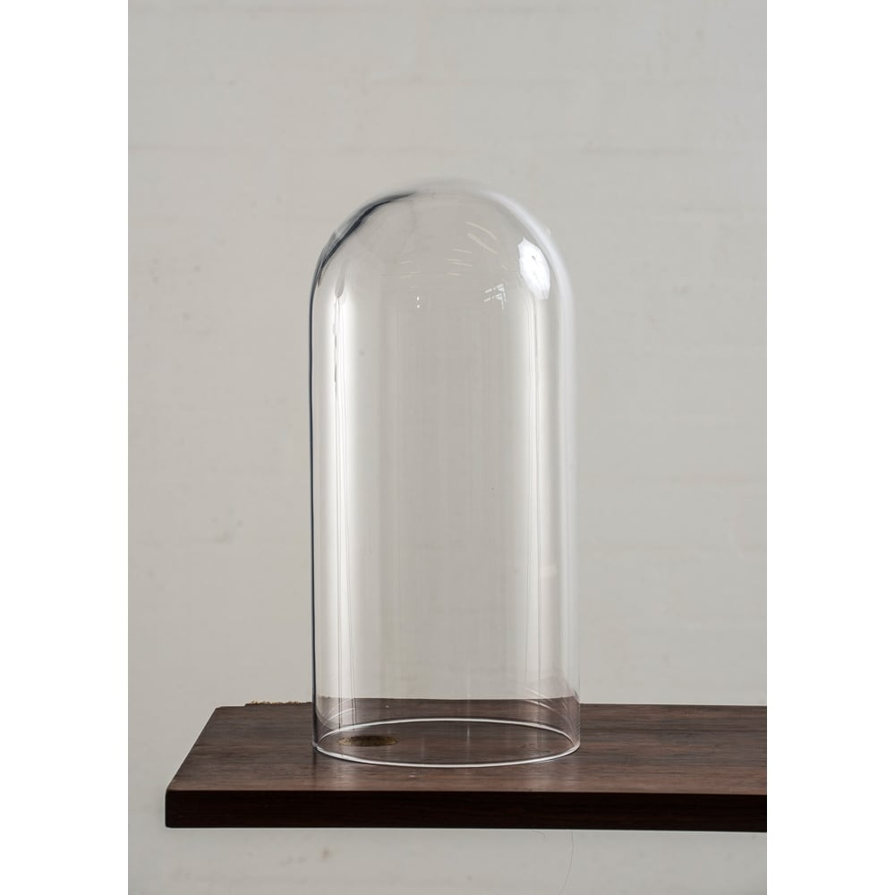 ... Copenhagen Glass Collection SPEAK   Up! Glow In A Dome Clear Glass  Table Lamp ...