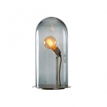 SPEAK - Up! Glow In A Dome Smoky Grey Glass Table Lamp (Extra Large)