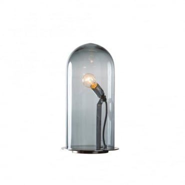 SPEAK - Up! Glow In A Dome Smoky Grey Glass Table Lamp (Large)
