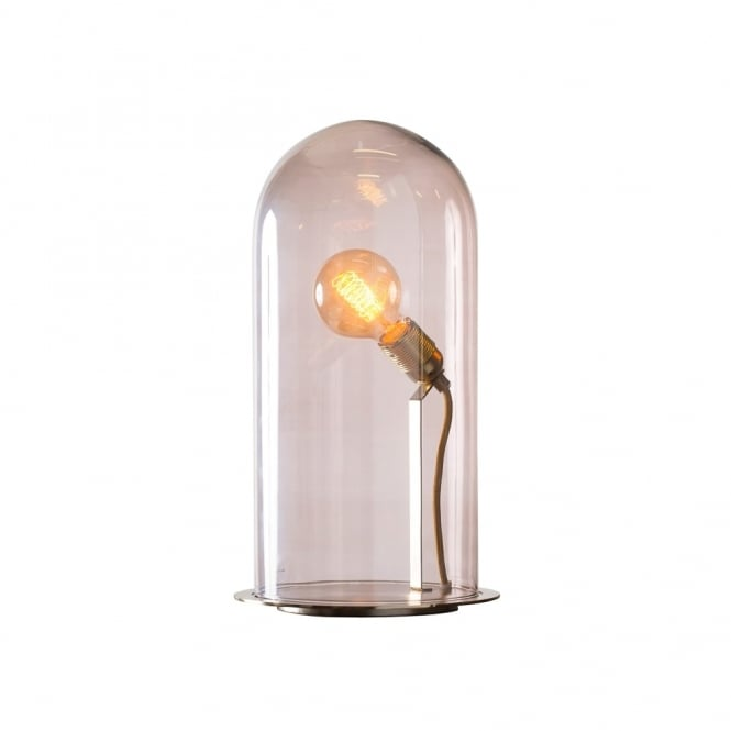 Copenhagen Glass Collection SPEAK - Up! Glow In A Dome Transparent Obsidian Glass Table Lamp (Extra Large)