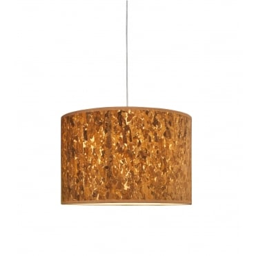CORK - 20 x 40 cm Cylinder Ceiling Shade or Lampshade Natural Cork