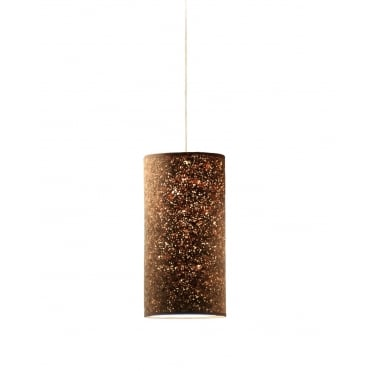 CORK - 20 x 40 cm Cylindrical Ceiling Shade or Lampshade Smoked Cork