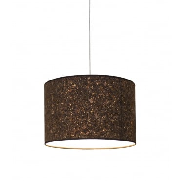 CORK - 46 x 30 cm Cylindrical Ceiling Shade or Lampshade Smoked Cork