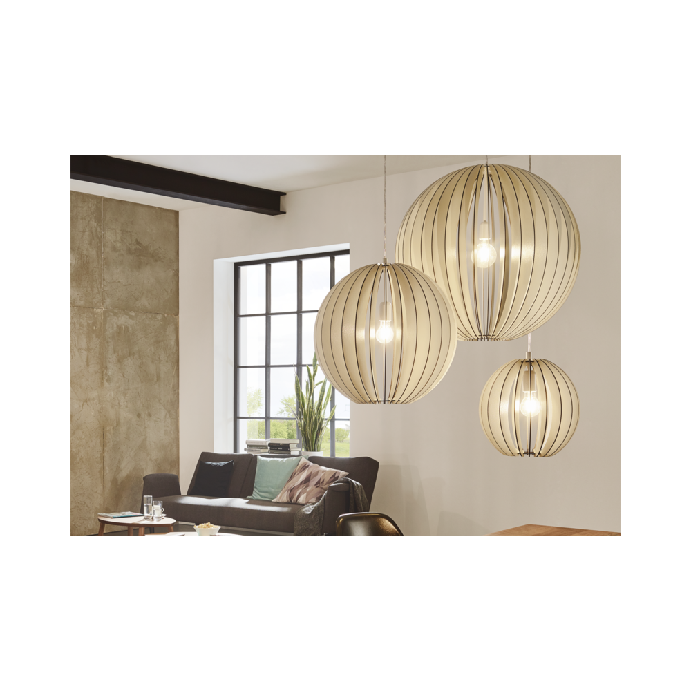 bb7ab76e749c Slatted Wood White Globe Large Ceiling Pendant Lighting And Lights Uk
