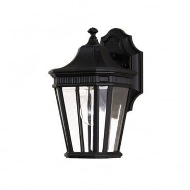 COTSWOLD LANE - Exterior Small Wall Lantern in Black