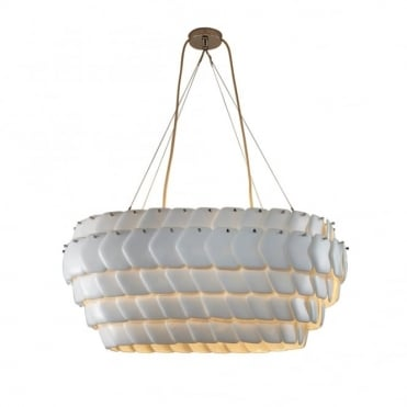 CRANTON - Oval Ceiling Pendant Sand And Taupe Braided Cable