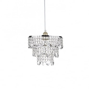 CYBIL - Small Easy Fit Crystal Chandelier Chrome Frame