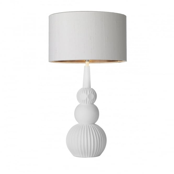 DAPHNE - Table Lamp White With Ivory Shade