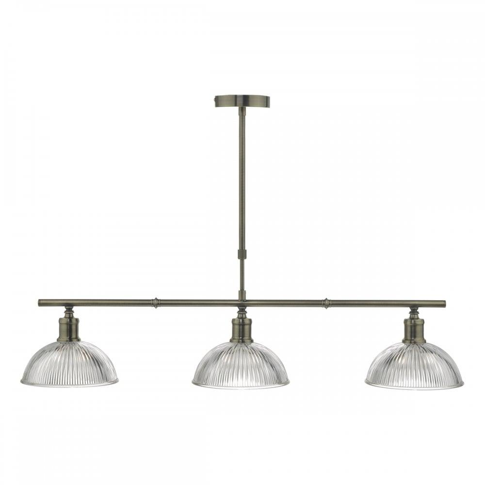 3lt Bar Pendant Antique Brass Amp Glass Lighting And Lights Uk