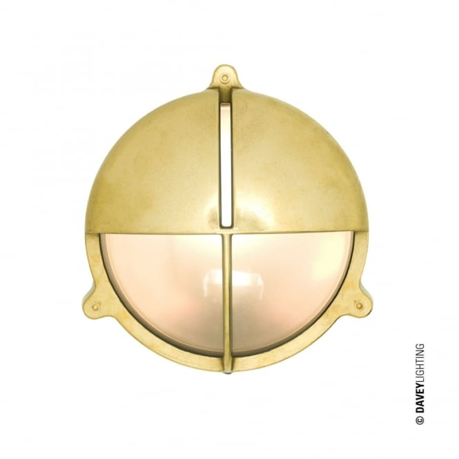 BRASS - Exterior Bulkhead With Eyelid Shield Natural Brass