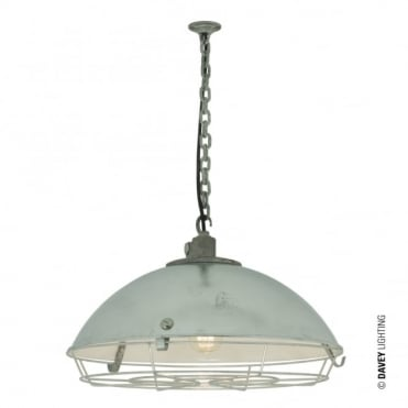CARGO - Industrial Ceiling Pendant With Protective Guard IP44 Bathroom Safe