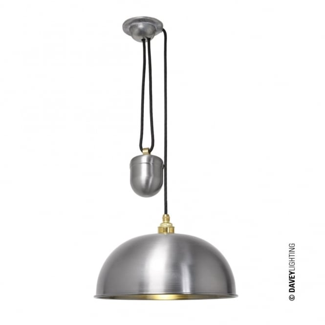 Davey Lighting DOME - Rise and Fall Ceiling Ceiling Pendant Steel Lacquered; Perfect in Kitchens!