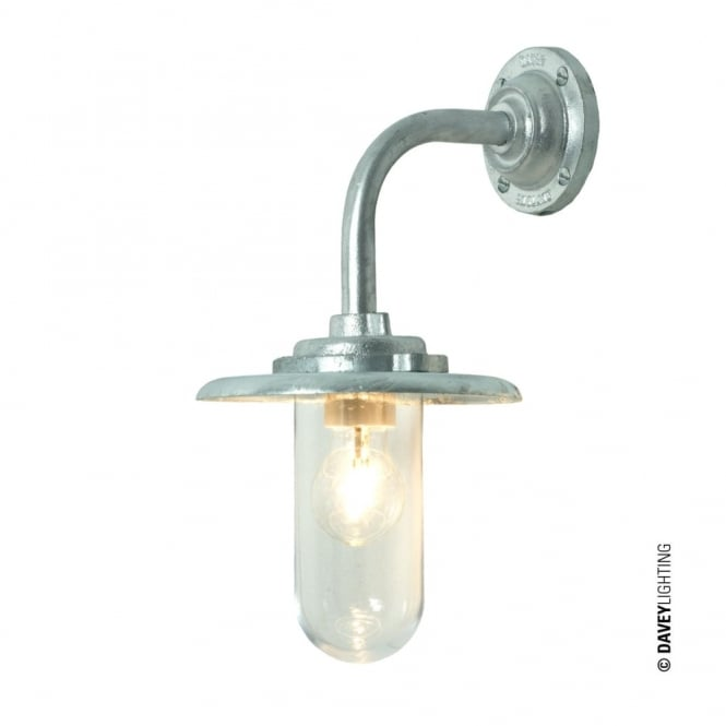 Davey Lighting EXTERIOR - Bracket Light 60W Round Galvanised Clear Glass