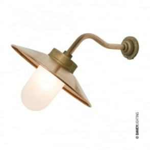 EXTERIOR - Bracket Light Canted Round Gunmetal Frosted Glass