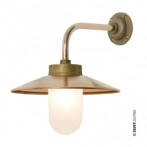 EXTERIOR - Bracket Light Right Angle Round Gunmetal Frosted Glass