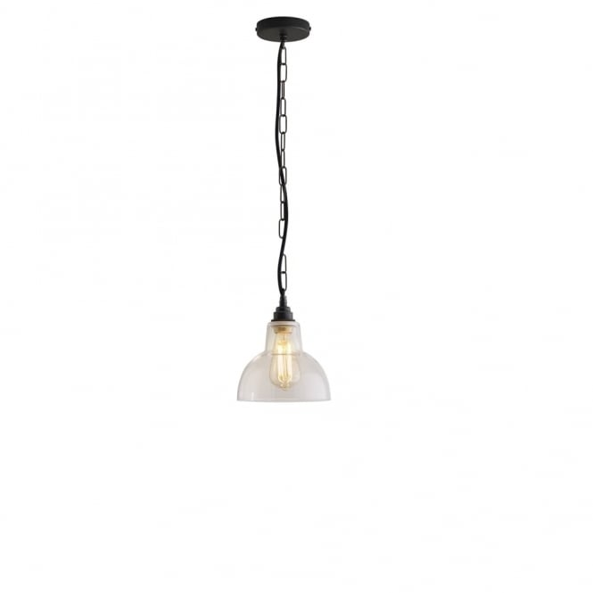 Davey Lighting GLASS - York Ceiling Pendant 1 Clear Aged Brass