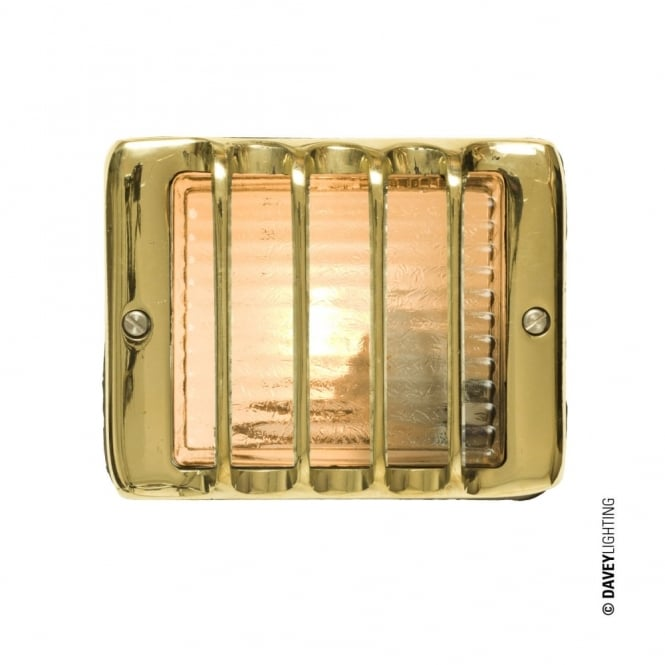 GUARDED - Exterior Step Light E14 Polished Brass