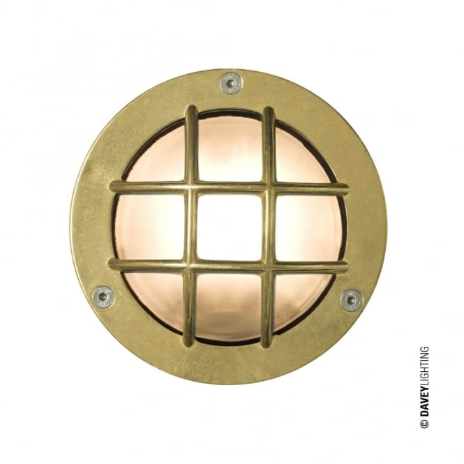 Davey Lighting MINIATURE - Exterior Bulkhead Cross Guard G9 Brass