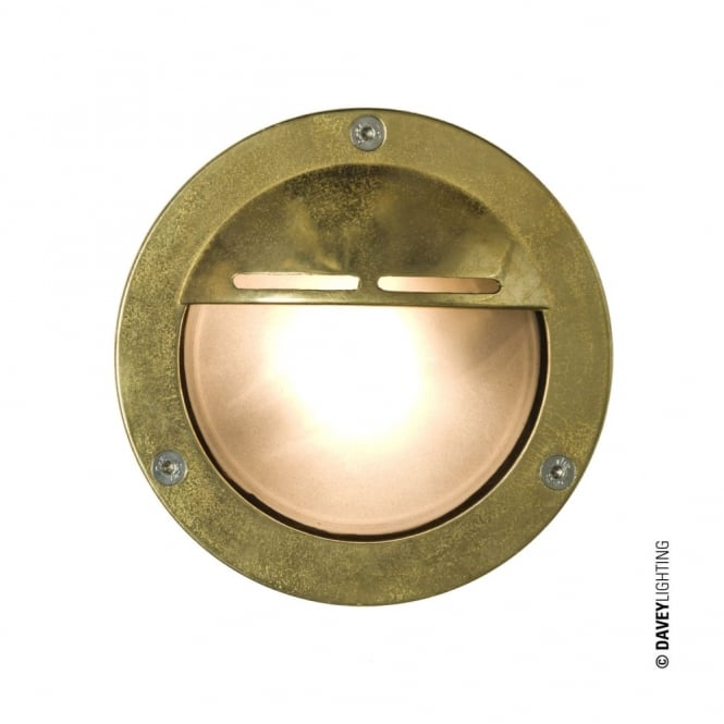 Davey Lighting MINIATURE - Exterior Bulkhead Eyelid Shield G9 Brass