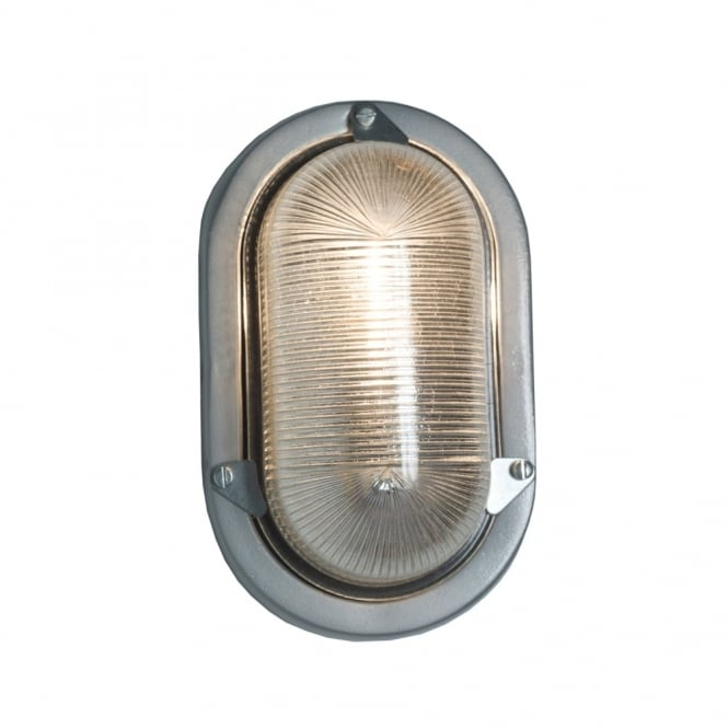 Davey Lighting OVAL - Aluminium Bulkhead For Gls Painted Silver